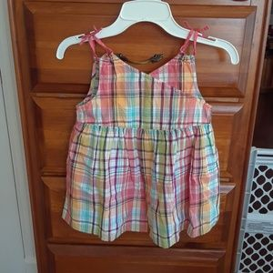 Gymboree girls Plaid NEW Spring Tank Top sz 6